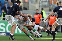 "Sergio Parisse Italia.<br /> Roma 22-02-2014, Stadio Olimpico. Sei Nazioni di Rugby / Rugby Six Nations - Italia vs Scozia / Italy Vs Scotland  - Foto ""Antonietta Baldassarre"" Insidefoto"