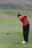 David Kitt (Athenry) on the 12th fairway during Round 2 of the Ulster Boys Championship at Portrush Golf Club, Portrush, Co. Antrim on the Valley course on Wednesday 31st Oct 2018.<br /> Picture:  Thos Caffrey / www.golffile.ie<br /> <br /> All photo usage must carry mandatory copyright credit (&copy; Golffile | Thos Caffrey)