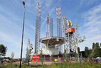 Havenwerkzaamheden aan de TT Vasumweg in Amsterdam-Noord