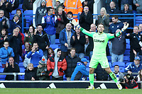 Preston North End's Chris Maxwell can't believe it as he concedes a penalty<br /> <br /> Photographer David Shipman/CameraSport<br /> <br /> The EFL Sky Bet Championship - Ipswich Town v Preston North End - Saturday 3rd November 2018 - Portman Road - Ipswich<br /> <br /> World Copyright &copy; 2018 CameraSport. All rights reserved. 43 Linden Ave. Countesthorpe. Leicester. England. LE8 5PG - Tel: +44 (0) 116 277 4147 - admin@camerasport.com - www.camerasport.com