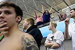 GREENSBORO, NC - MARCH 15: Fans cheer as athletes look onto the competition course during the Division II Men's and Women's Swimming & Diving Championship held at the Greensboro Aquatic Center on March 15, 2018 in Greensboro, North Carolina. (Photo by Mike Comer/NCAA Photos/NCAA Photos via Getty Images)