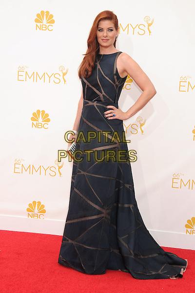 25 August 2014 - Los Angeles, California - Debra Messing. 66th Annual Primetime Emmy Awards - Arrivals held at Nokia Theatre LA Live. <br /> CAP/ADM/BP<br /> &copy;BP/ADM/Capital Pictures