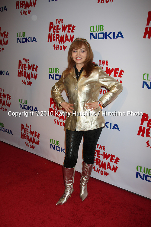 "Judy Tenuta.arriving at the ""The Pee Wee Herman Show"" Opening Night..Club Nokia.Los Angeles, CA.January 20, 2010.©2010 Kathy Hutchins / Hutchins Photo...."