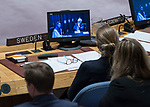Hajer Sharief (on screen, left), Co-founder of &ldquo;Together We Build It&rdquo;, a professional network for Libyan women, briefs the Security Council meeting on the situation in Libya.<br /> <br /> Ghassan Salam&eacute; (on screen, right), Special Representative of the Secretary-General and Head of the United Nations Support Mission in Libya (UNSMIL), also briefed the Council.