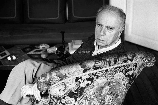 Claude Simon (1913-2005) at home.