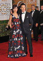 Benedict Cumberbatch &amp; Sophie Hunter at the 72nd Annual Golden Globe Awards at the Beverly Hilton Hotel, Beverly Hills.<br /> January 11, 2015  Beverly Hills, CA<br /> Picture: Paul Smith / Featureflash