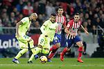(L to R) Club Atletico de Madrid's Rodrigo Hernandez, Koke Resurreccion and Futbol Club Barcelona's Arturo Vidal and Rafinha Alcantara during La Liga match. November 24,2018. (ALTERPHOTOS/Alconada)