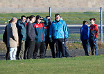 St Johnstone Training…28.12.18    McDiarmid Park<br />Manager Tommy Wright talks with Auchterarder FC who watched the  training this morning ahead of tomorrow's game at Dundee.<br />Picture by Graeme Hart.<br />Copyright Perthshire Picture Agency<br />Tel: 01738 623350  Mobile: 07990 594431