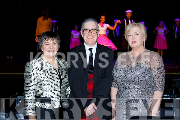Judges Michelle Cooper Galvin, Danny Leane and Mary Mac Monagle  at the Killarney Strictly Come Dancing in the INEC on Friday night