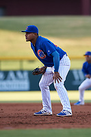 AZL Cubs 1 first baseman Ervis Marchan (21) during an Arizona League game against the AZL Athletics Gold at Sloan Park on June 20, 2019 in Mesa, Arizona. AZL Athletics Gold defeated AZL Cubs 1 21-3. (Zachary Lucy/Four Seam Images)