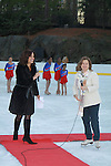 Soledad O'Brien and Sharon Cohen at the 2012 Skating with the Stars - a benefit gala for Figure Skating in Harlem celebrating 15 years on April 2, 2012 at Central Park's Wollman Rink, New York City, New York.  (Photo by Sue Coflin/Max Photos)