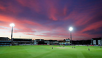 Dramatic sunset in canterbury during the Vitality Blast T20 game between Kent Spitfires and Somerset at the St Lawrence Ground, Canterbury, on Thur Aug 16, 2018