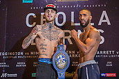 6th October 2017, Radisson Edwardian Hotel,  Manchester, England; Anthony Crolla versus Ricky Burns Weigh-in and Press Conference; Sam Eggington and Mohamed Mimoune weigh-in for their title fight