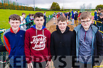 Tadgh Griffin, Jason Buckley, Jack Stack and Ethan Freemantle, students attending Causeway Comprehensive Secondary School pictured at the Kerry ETB Athletics event at An Riocht, Castleisland on Friday last.