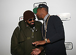 Jermaine Dupre and Julez Santana Have a Quick Conversation at Angela Simmons I Am Presentation Powered Monster at 404 During Mercedes-Benz Fashion Week Fall 2014 NY