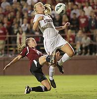 Santa Clara, CA - September 22, 2013:  Taylor Uhl during Stanford's 3-2 double overtime victory over Santa Clara at Buck Shaw Stadium, Santa Clara.