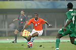 07 August 2008: Ryan Babel (NED) (11).  The men's Olympic team of the Netherlands played the men's Olympic soccer team of Nigeria at Tianjin Olympic Center Stadium in Tianjin, China in a Group B round-robin match in the Men's Olympic Football competition.