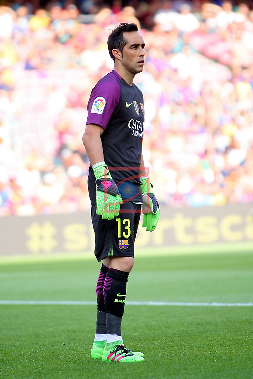 League Santander 2016/2017. Game: 1.<br /> FC Barcelona vs Real Betis: 6-2.<br /> Claudio Bravo.