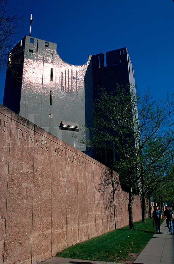 The exterior of the Denver Art Museum. Colorado.
