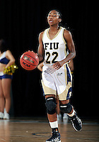 Florida International University guard Jerica Coley (22) plays against ULM. FIU won the game 65-55 on January 07, 2012 at Miami, Florida. .