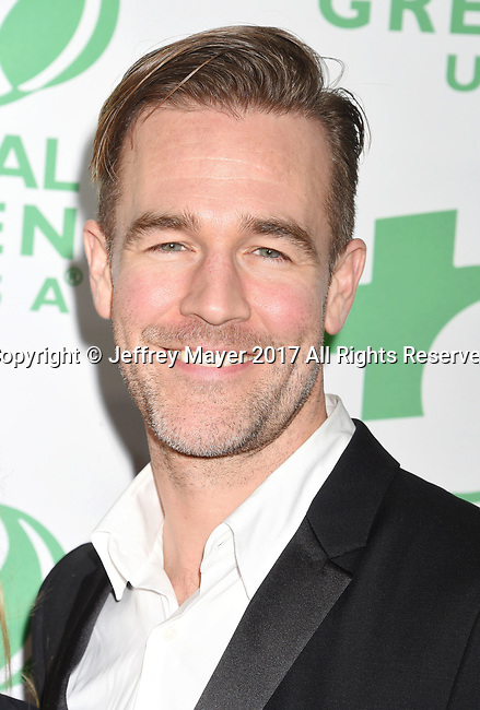 LOS ANGELES, CA - FEBRUARY 22: Actor James Van Der Beek arrives at the 14th Annual Global Green Pre-Oscar Gala at TAO Hollywood on February 22, 2017 in Los Angeles, California.