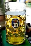 Tipical Beer jar at a beer garden in Munich, Germany, July 31, 2008. (ALTERPHOTOS/Alvaro Hernandez)