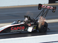 Nov 10, 2018; Pomona, CA, USA; NHRA top fuel driver Billy Torrence during the Auto Club Finals at Auto Club Raceway. Mandatory Credit: Mark J. Rebilas-USA TODAY Sports