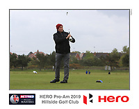 Playing with Richard Sterne (RSA) on the 10th tee during the Pro-Am of the Betfred British Masters 2019 at Hillside Golf Club, Southport, Lancashire, England. 08/05/19<br /> <br /> Picture: Thos Caffrey / Golffile<br /> <br /> All photos usage must carry mandatory copyright credit (© Golffile | Thos Caffrey)