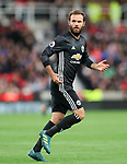 Manchester United's Juan Mata in action during the premier league match at the Britannia Stadium, Stoke on Trent. Picture date 9th September 2017. Picture credit should read: David Klein/Sportimage