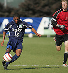 9 November 2005: . Duke University defeated Virginia Tech 2-0 at SAS Stadium in Cary, North Carolina in a quarterfinal of the 2005 ACC Men's Soccer Championship.