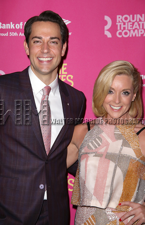 Zachary Levi and Jane Krakowski  attends the Broadway Opening Night Performance press reception for 'She Loves Me' at Studio 54 on March 17, 2016 in New York City.