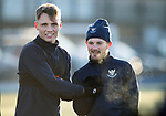 St Johnstone Training&hellip;.14.12.18    McDiarmid Park<br />Jason Kerr and Matty Kennedy pictured during training this morning ahead of tomorrows game against Motherwell<br />Picture by Graeme Hart.<br />Copyright Perthshire Picture Agency<br />Tel: 01738 623350  Mobile: 07990 594431