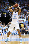 01 December 2015: North Carolina's Isaiah Hicks. The University of North Carolina Tar Heels hosted the University of Maryland Terrapins at the Dean E. Smith Center in Chapel Hill, North Carolina in a 2015-16 NCAA Division I Men's Basketball game. UNC won the game 89-81.