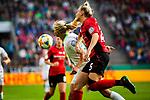 01.05.2019, RheinEnergie Stadion , Köln, GER, DFB Pokalfinale der Frauen, VfL Wolfsburg vs SC Freiburg, DFB REGULATIONS PROHIBIT ANY USE OF PHOTOGRAPHS AS IMAGE SEQUENCES AND/OR QUASI-VIDEO<br /> <br /> im Bild | picture shows:<br /> Pernille Harder (VfL Wolfsburg #22) im Duell mit Virginia (SC Freiburg Frauen #25), <br /> <br /> Foto © nordphoto / Rauch