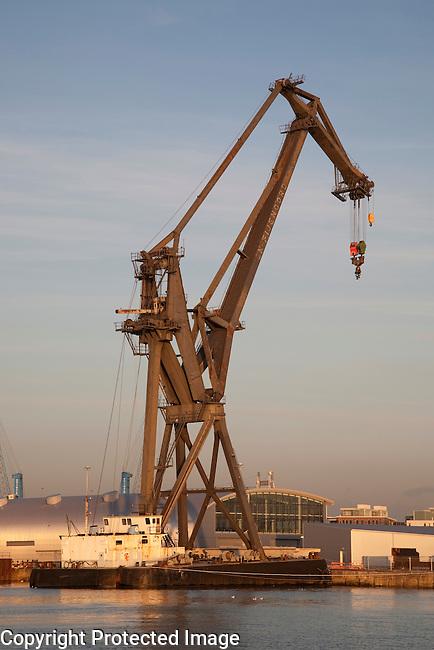 Crane in Southampton Dock in England, UK