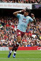 Tyrone Mings of Aston Villa anguish during the Premier League match between Arsenal and Aston Villa at the Emirates Stadium, London, England on 22 September 2019. Photo by Carlton Myrie / PRiME Media Images.