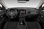 Stock photo of straight dashboard view of 2019 Mitsubishi Outlander GT 5 Door SUV Dashboard