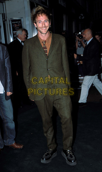 PAUL KAYE.Blackball Film Premiere at Odeon West Ednd and Afterparty at The Porterhouse .www.capitalpictures.com.sales@capitalpictures.com.© Capital Pictures.doc martin shoes, green wool trouser suit..full length, full-length