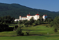 hotel, resort, Bretton Woods, NH, New Hampshire, Scenic view of Historic Mount Washington Hotel & Resort in the White Mountain National Forest.