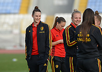 20180305 - LARNACA , CYPRUS :  Belgian Heleen Jaques pictured during a pitch recognition before women's soccer game between  the Belgian Red Flames  and Austria , on Monday 5 March 2018 at the GSZ Stadium in Larnaca , Cyprus . This is the third game in group B for Belgium during the Cyprus Womens Cup , a prestigious women soccer tournament as a preparation on the World Cup 2019 qualification duels. PHOTO SPORTPIX.BE | DAVID CATRY