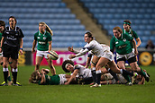16th March 2018, Ricoh Arena, Coventry, England; Womens Six Nations Rugby, England Women versus Ireland Women; Leanne Riley of England clears the ball