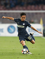Calcio, Serie A: Napoli, stadio San Paolo, 21 ottobre 2017.<br /> Inter's Yuto Nagatomo in action during the Italian Serie A football match between Napoli and Inter at Napoli's San Paolo stadium, October 21, 2017.<br /> UPDATE IMAGES PRESS/Isabella Bonotto