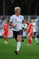 Millie Bright of England Women during the FIFA Women's World Cup Qualifier match between Wales and England at Rodney Parade on August 31, 2018 in Newport, Wales.