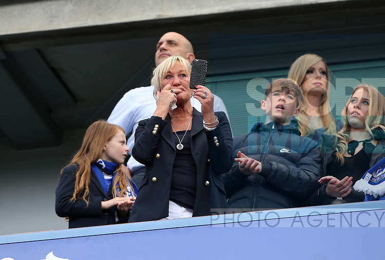 John Terry's mum Sue looks on during the Premier League match at Stamford Bridge Stadium, London. Picture date: May 18th, 2017. Pic credit should read: David Klein/Sportimage