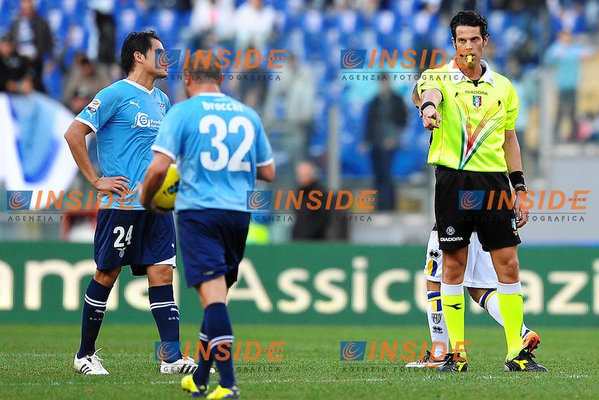 """L'arbitro DE MARCO (D).Roma 6/11/2011 Stadio """"Olimpico"""".Football Calcio Serie A 2011/2012 .Lazio Vs Parma.Foto Insidefoto Andrea Staccioli"""