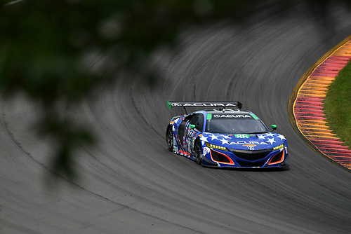 IMSA WeatherTech SportsCar Championship<br /> Sahlen's Six Hours of the Glen<br /> Watkins Glen International, Watkins Glen, NY USA<br /> Sunday 2 July 2017<br /> 86, Acura, Acura NSX, GTD, Oswaldo Negri Jr., Jeff Segal<br /> World Copyright: Richard Dole/LAT Images<br /> ref: Digital Image RD_WGI_17_472