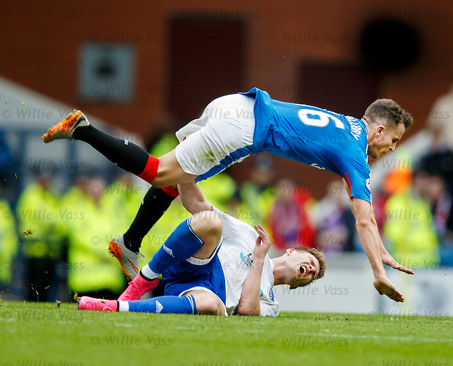 Andy Halliday and Rory McAllister collide
