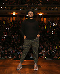 "Sean Green Jr. during the ""Hamilton"" eduHAM Student Matinee Q & A  at the Richard Rodgers Theatre on February 13, 2019 in New York City."