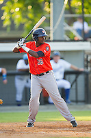Yonathan Mejia (36) of the Greeneville Astros at bat against the Burlington Royals at Burlington Athletic Park on June 29, 2014 in Burlington, North Carolina.  The Royals defeated the Astros 11-0. (Brian Westerholt/Four Seam Images)