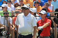 Carl Pettersson (SWE) and Rory McIlroy (NIR) on the 1st tee to start their match Sunday's Final Round of the 94th PGA Golf Championship at The Ocean Course, Kiawah Island, South Carolina, USA 11th August 2012 (Photo Eoin Clarke/www.golffile.ie)